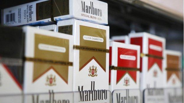 صورة تقريبية لعلب السجائر في المملكة العربية السعودية